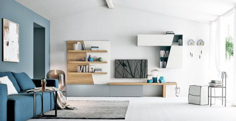 Abitastore | Arredamento online, soggiorno in materico
