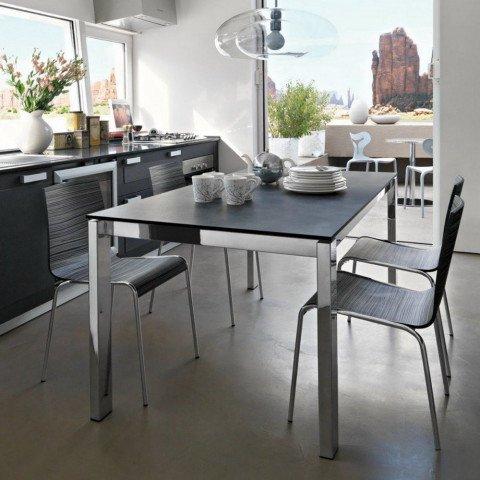 Abitastore arredamento online calligaris tavolo baron - Tavolo vetro allungabile calligaris ...