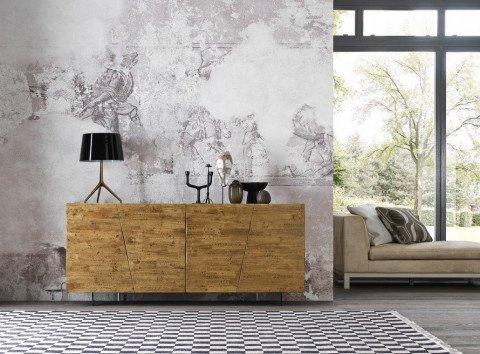 Credenza Moderna In Legno Massello : Abitastore arredamento online calligarisu madia legno massello