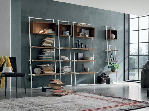 Abitastore arredo di design libreria modulare eliot for Libreria modulare