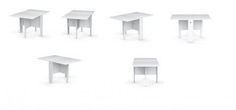 Abitastore arredamento online calligaris tavolo spazio - Tavolo consolle pieghevole ...