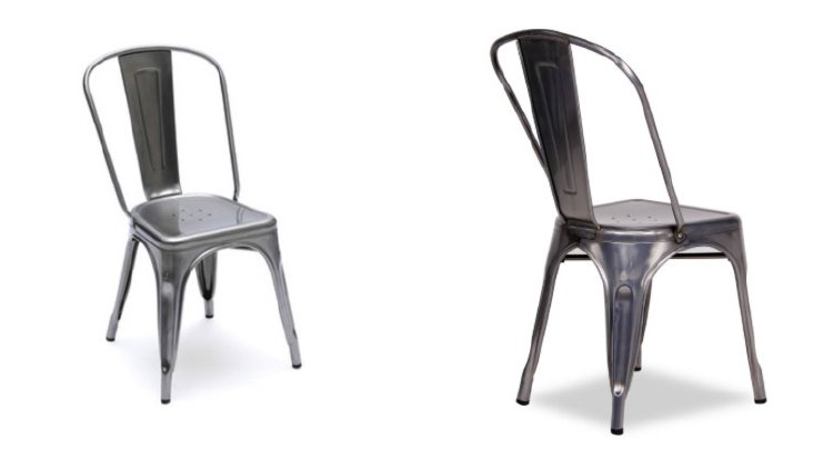 Sedie Di Metallo Vintage : Sedia vintage tolix arredamento online abitastore
